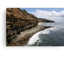 California Cliff Landscape Canvas Print