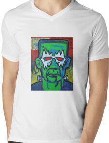 Franken-Frehley Mens V-Neck T-Shirt