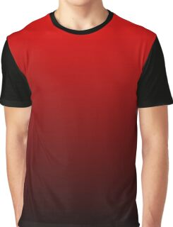 Red To Black Gradient Graphic T-Shirt