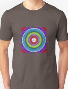 rainbow triangle spiral mandala-dots painting Unisex T-Shirt