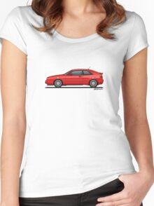 VW Corrado G60 Red Women's Fitted Scoop T-Shirt