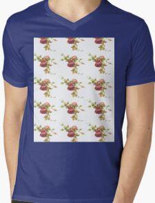 Vintage Rose Mens V-Neck T-Shirt