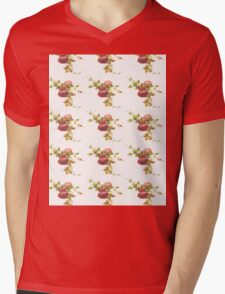 Vintage Rose Mens V-Neck T-Shirt
