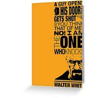 Walter Knocks Greeting Card