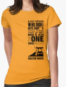 Walter Knocks Womens Fitted T-Shirt