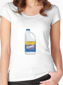 Clorox bleach Women's Fitted Scoop T-Shirt