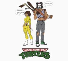 April O'Neil Casey Jones Ninja Turtles Kids Tee