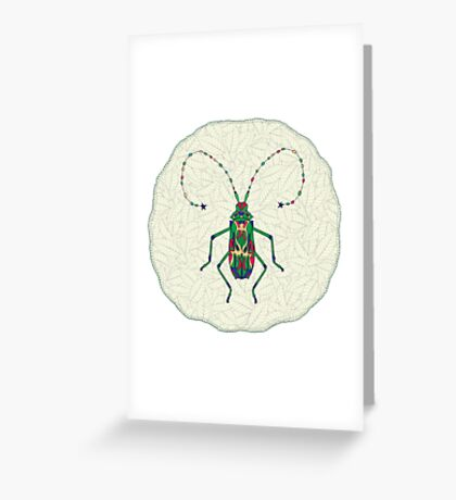 Green Insect Design Greeting Card