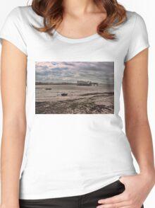 Grand Pier, Weston-super-Mare Women's Fitted Scoop T-Shirt