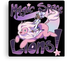 Magic Space Lion! Canvas Print