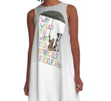 Why  would  you  want  to do  anything else  but rescue a pet? A-Line Dress