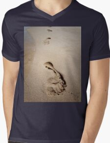 footprints Mens V-Neck T-Shirt