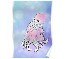 Baby Cuttlefish Mermaid Poster