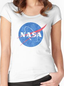 Vintage NASA Women's Fitted Scoop T-Shirt