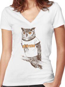 Original Hooter Women's Fitted V-Neck T-Shirt