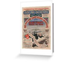 Vintage poster - Orient Express Greeting Card