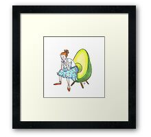 Avocado Chair  Framed Print