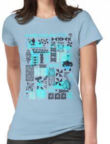 Moana blue print Womens Fitted T-Shirt