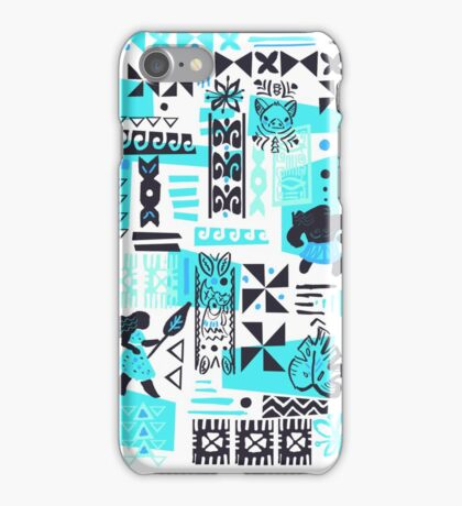 Moana blue print iPhone Case/Skin