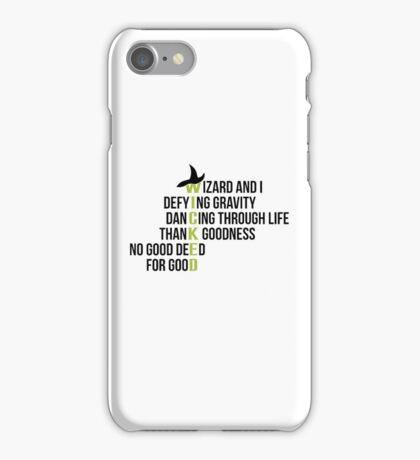 WICKED - black iPhone Case/Skin