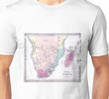 Vintage Map of Southern Africa (1855) Unisex T-Shirt