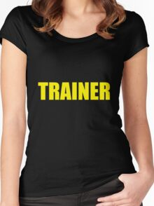 Trainer (Yellow) Women's Fitted Scoop T-Shirt