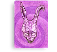 Frank The Easter Bunny (with sort of timey wimey background) Canvas Print