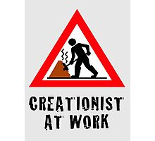 Creationist at Work (Light backgrounds) Photographic Print