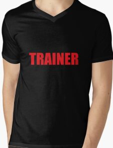 Trainer (Red) Mens V-Neck T-Shirt