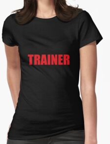 Trainer (Red) Womens Fitted T-Shirt