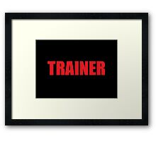 Trainer (Red) Framed Print