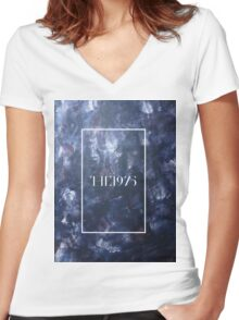painting the 1975 Women's Fitted V-Neck T-Shirt