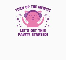 Turn up The Mewsic Womens Fitted T-Shirt