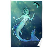 Tigershark Mermaid Poster