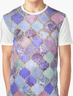 Royal Purple, Mauve & Indigo Decorative Moroccan Tile Pattern Graphic T-Shirt