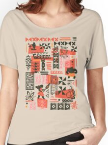 Moana Red Print Women's Relaxed Fit T-Shirt