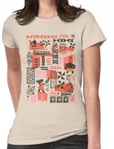 Moana Red Print Womens Fitted T-Shirt