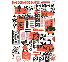 Moana Red Print Photographic Print
