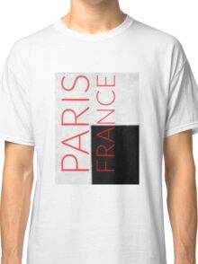 PARIS FRANCE in red Classic T-Shirt