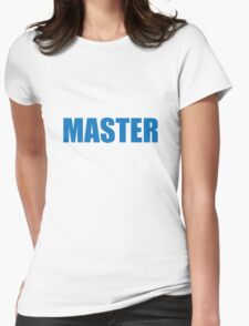 Master (Blue) Womens Fitted T-Shirt