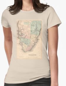 Vintage Map of Charleston South Carolina (1855) Womens Fitted T-Shirt