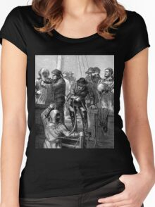 Early deep sea divers - Moire effect - Optical illusion Women's Fitted Scoop T-Shirt
