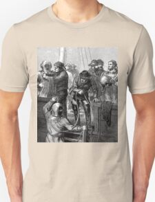 Early deep sea divers - Moire effect - Optical illusion Unisex T-Shirt