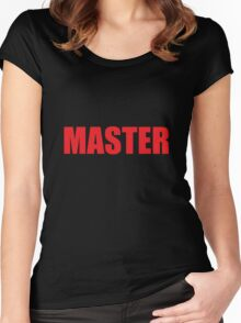 Master (Red) Women's Fitted Scoop T-Shirt