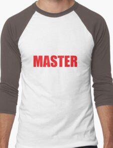 Master (Red) Men's Baseball ¾ T-Shirt