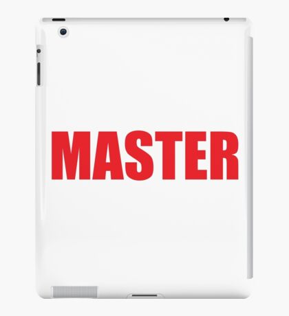 Master (Red) iPad Case/Skin