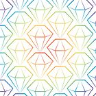 Rainbow Emeralds pattern by Daniel Bevis