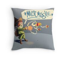 """The wizard casts """"Magic Missile"""" Throw Pillow"""