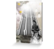 Lights and Heaven's Escalator Greeting Card