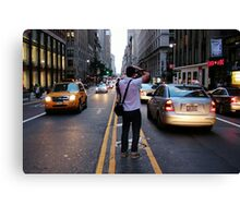 In the middle of a Street NYC Canvas Print